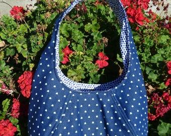Denim Heart HoBo  Bag