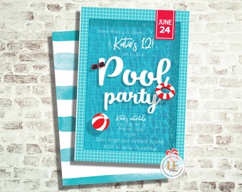 Pool Party /Birthday Invitation