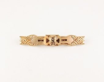 Antique Victorian Bar Brooch with Ornate Design