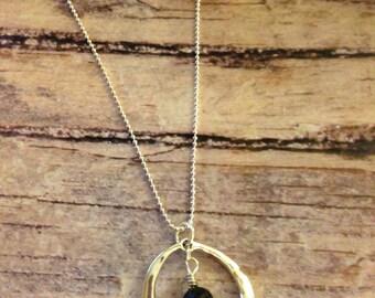 Silver Circle Lava Diffuser Necklace