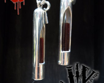 LOVE IN VEIN™ - Original Love Vial™ kit - 2011 Sterling Silver Range:  Original Cryo. Blood Vials with Anticoagulant,