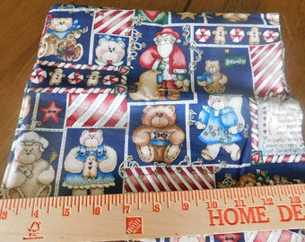 Destash- Christmas Themed Vintage Cotton Quilters Remnant ((A-061)