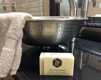 Walk in the Forest Bar Soap - Natural & Made with Organic Oils - Organic Soap - All Natural - Vegan Friendly - Cruelty Free
