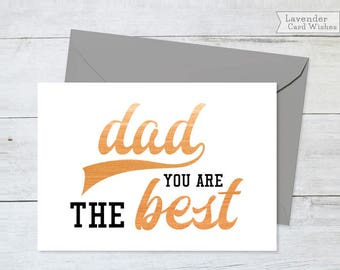 Fathers day card Dad cards from son Card for dad Printable card Bday cards for dad Card for daddy Dad birthday card Dad card Daddy card