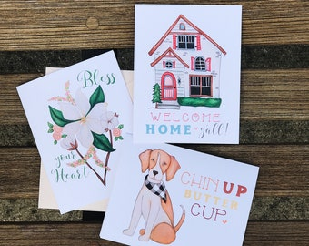 Sweet Southern Notecard Set
