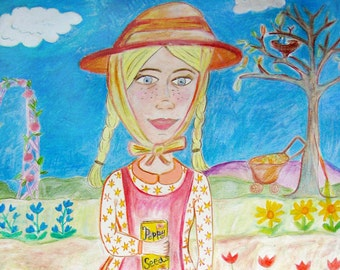 Gretchen Garden Girl fine art print