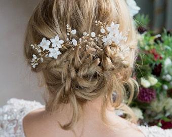 Bridal Hair Flower Hairpin | Clematis