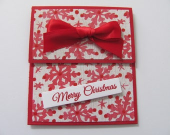 Snowflake Gift Card Holder, Gift Card Envelope, Gift Cards, Money Holders, Christmas Gift Card Holder, Holiday Gift Card, Christmas Cards