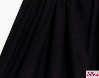 Sweat Uni Black, Organic Cotton Fabric with Elasthan by lillestoff Design