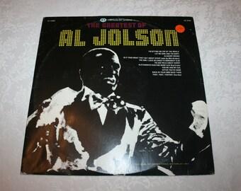 Vintage Vinyl LP Record Album The Greatest of Al Jolson Double Album Two 1975