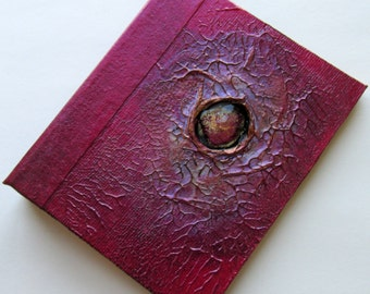 Refillable Journal red copper nebula 5x4 Handmade Original notebook diary