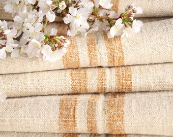 SP 21:  antique, handloomed, CARAMELL, wedding decor, holiday feeling, 5.90 yards , french lin, cushion, pillow, tablerunner