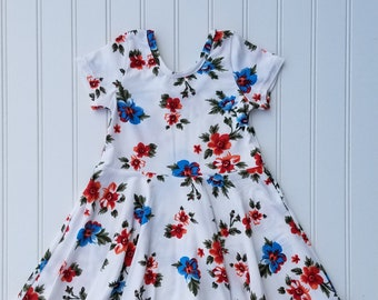Twirly Dress / 18M / Floral Dress / Baby Dress / Scoop Back Dress / Toddler Dress / Dress