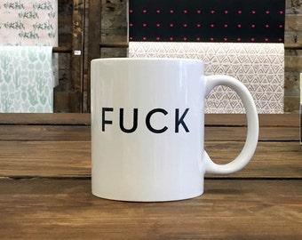 Coffee Mug - F*ck - Typographic Quote Mug