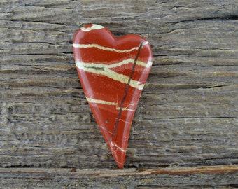 Red River Jasper Heart Cabochon