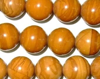 "8mm Round Wood Jasper Bead Semiprecious Gemstone 15""L 15""L Bead String Beading  Jewelry Supply Wholesale Beads"