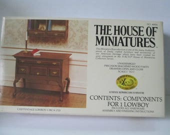The House of Miniature Furniture Kit Chippendale Lowboy open kit series 40024