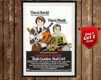 Harold And Maude Movie Poster, Vintage Film Print, Harold Maude Film Poster, 1970s, Vintage, Cinema, Art , Print, Movie Art, Vintage CInema