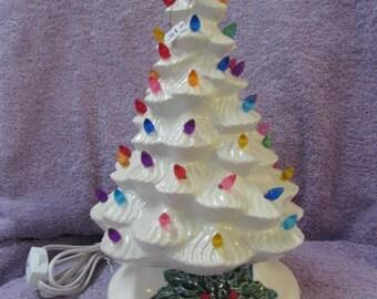 Hand Painted McNees 631 Ceramic Christmas Tree