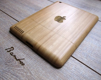 Ipad 4 case - wooden cases walnut or bamboo wood - apple