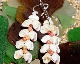 Momi, Kahelelani heliconia shell earrings #239