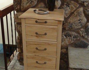Solid Maple Lingerie Chest for Bedroom Storage as a Bedroom Accent Furniture Piece - Jewelry and Makeup Storage