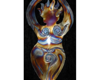 GODDESS Mother Earth Woman Metal Wall Accent Art Decor