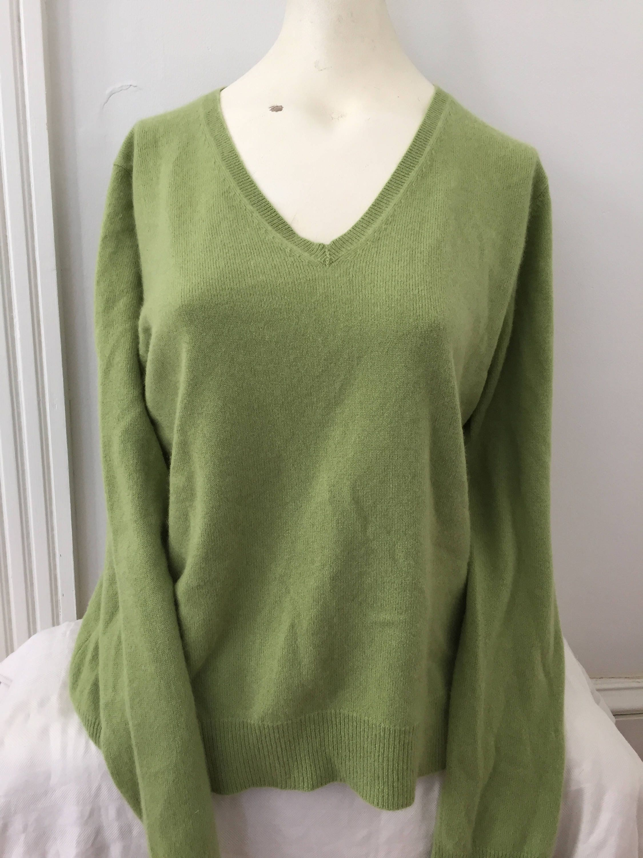 50s Vintage Mint green sweater 50s Jantzen sweater Kharafleece V neck 50s green vintage pullover S/ M tE41W36t