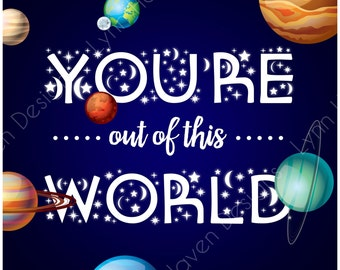 INSTANT DOWNLOAD | Printable Space Valentines | You're Out of This World | Printable Valentines | Boys & Girls Valentines | Instant Download