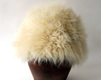 Vintage Cream Fur Hat