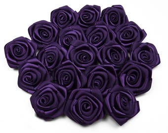10 pearls, satin lilac rose dark 3 cm in diameter ref 476