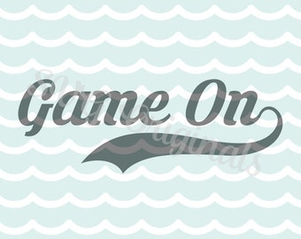 Gamer SVG Game On SVG Vector File. Cute for so many uses. Cricut Explore and more