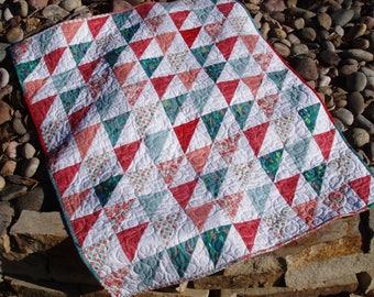 SALE**Modern Triangle Quilt, Handmade Quilt, Home Decor, Lap Quilt, Baby Quilt