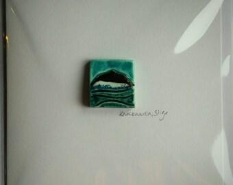 Knocknarea tile greeting card