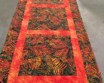 Sunset handmade quilted tablerunner