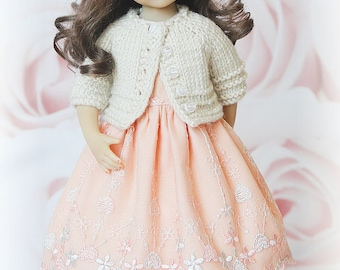 "Outfit for Little Darling doll 13"" by Dianna Effner: jacket, dress and hat"