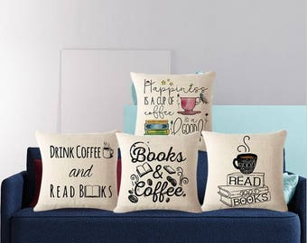 BOOK THROW PILLOW case