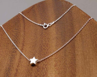 STAR, Sterling Silver Necklace, Sterling Silver Pendant, 3D,  STAR