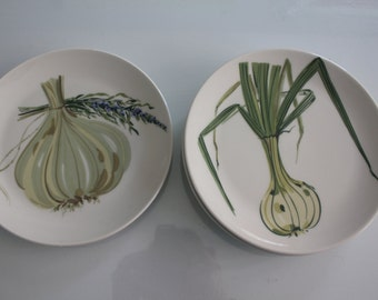 Set of 4 collectible plates by Arabia Finland