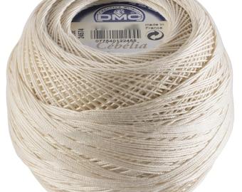 DMC Cebelia Size 10 100% Cotton Crochet Thread - 284 Yards - Color 712 Cream