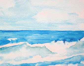 Waves Watercolor