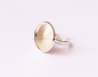18mm - Silver colored - 10 or 100 Rings for Cabochon 18mm