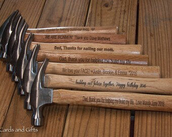 Engraved Hammer - Personalized Hammer Gift - Personalized Gift - Gift for Dad - Gift for Him - Father's day Gift - Christmas for Him