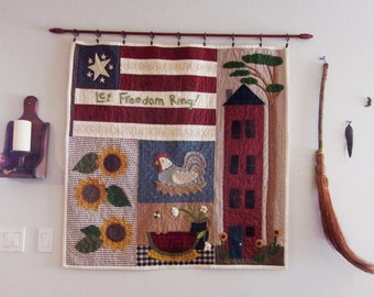 Summer --  Seasonal Quilted Wall Hanging