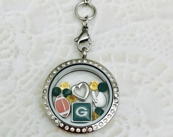 Green Bay Packers large 30mm stainless steel memory locket