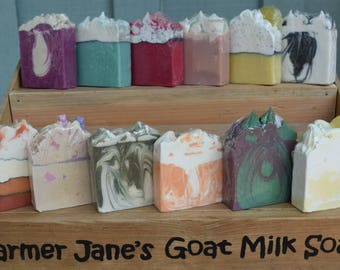 Goat Milk Soap Handcrafted - Holiday Gift Ideas / Handmade Goats Milk Soaps