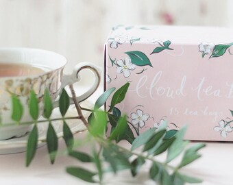 Box of 15 cloud shaped tea bags - Blue