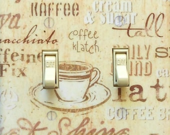 10 Styles Coffee & Kitchen theme Switch plates with MATCHING SCREWS- Kitchen light switch coffee switch plate kitchen wall decor dining room