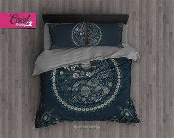 Queen Bedding Yin Yang, Bohemian Duvet Cover, Comforter ON SALE