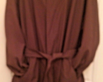 Men's Vintage all weather Raincoat Ralph Lauren Trench Belted Lined Brown 48R